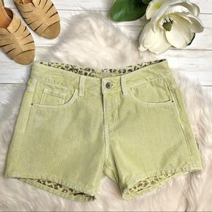 Guess Amelia Shimmery Denim Shorts - 26 Waist